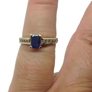 LeVian Diamond genuine blue sapphire designer ring